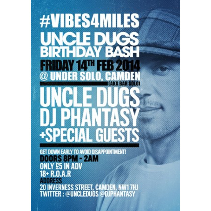 AVAILABLE NOW Limited Early Birds Tickets for Uncle Dugs Birthday Bash