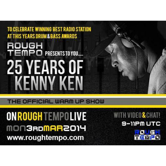 Kenny Ken - Live on Rough Tempo tonight at 9pm