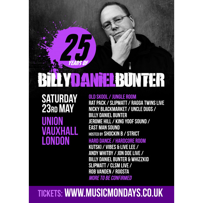 Celebrating 25 Years of Billy Daniel Bunter on Saturday 23rd May 2015