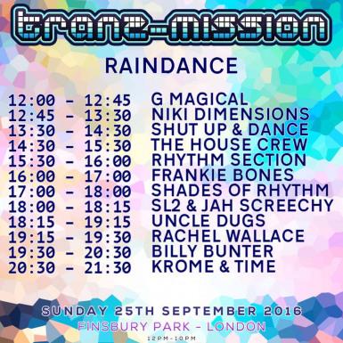 Raindance at Tranzmission Festival